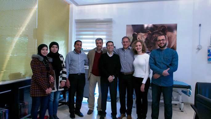 Het team van Nordin Dahhan (derde van rechts) in Tanger.