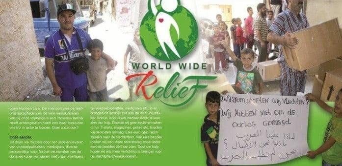 Actie World Wide Relief gestrand