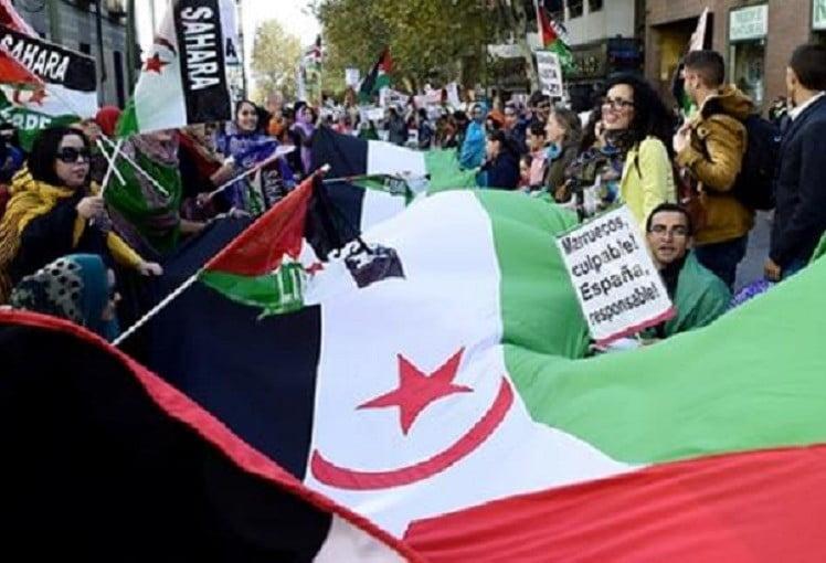 Demonstratie voor onafhankelijkheid Westelijke Sahara in Madrid