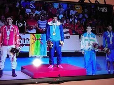 Eerste gevecht van Amazigh Bokskampioen live op Arryadia