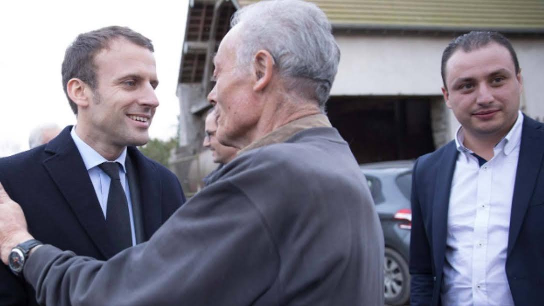 Riffijn bij het verkiezingsteam van Franse president