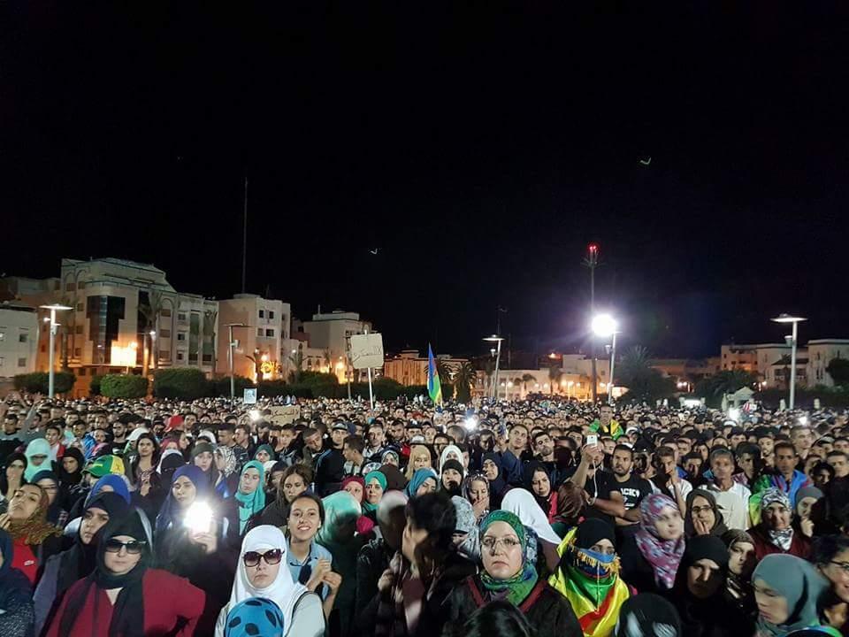 Demonstratie Al Hoceima volledig beveiligd door Zedenpolitie
