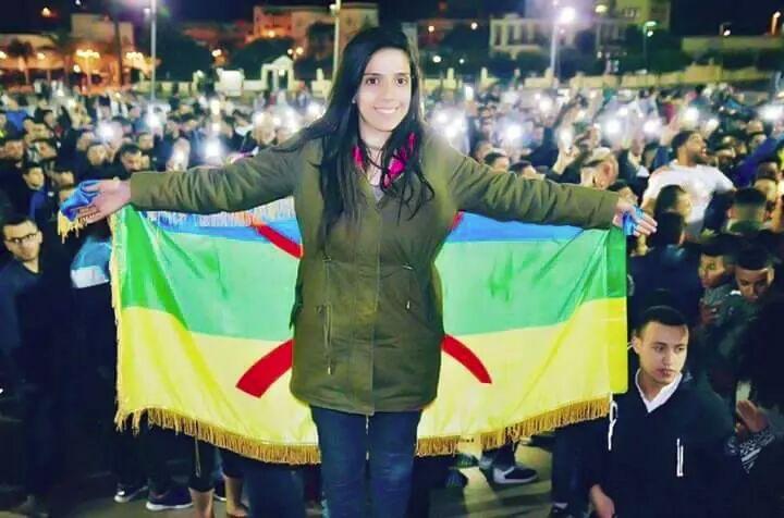 Silya Ziani, een van de vrouwelijke aanvoerders van de Riffijnse protestbeweging