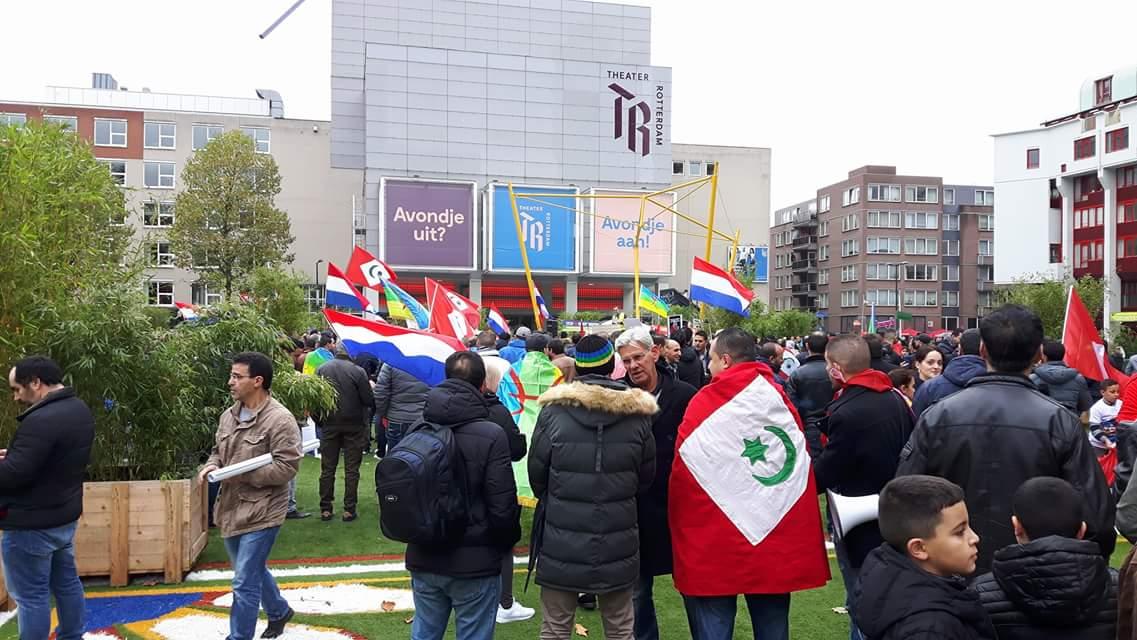 Protestmars tegen schendingen van mensenrechten in de Rif