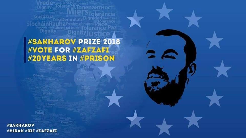 Nasser Zefzafi is door naar de finale van de Sakharovprijs .