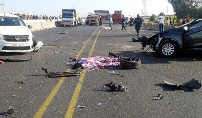 Marokkaanse wegen blijven extreem gevaarlijk 2000 gewonden bij verkeersongevallen in week tijd
