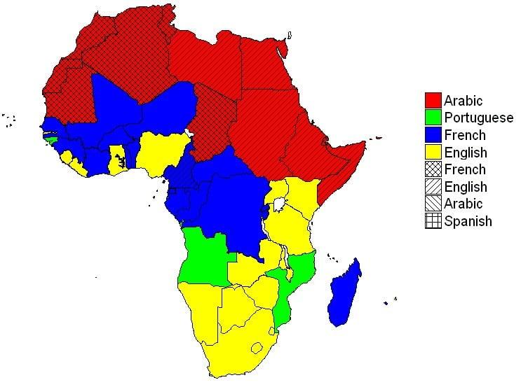 Alle officiele talen in Afrika zijn nog altijd van koloniale komaf