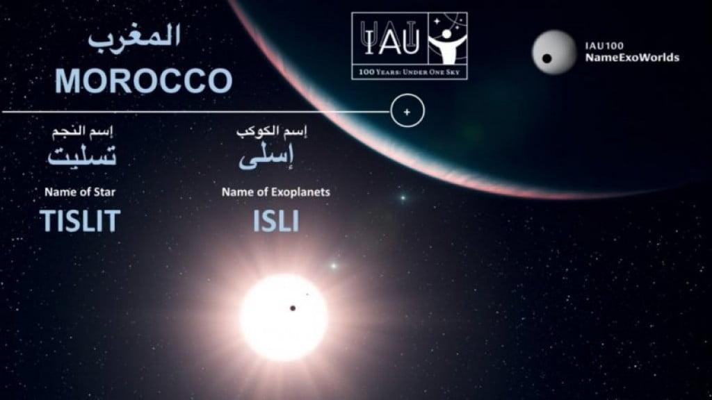 Exoplaneet en ster ontvangen Amazigh namen